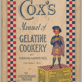 1914 - Cox&#039;s Gelatin Recipe Book - Books