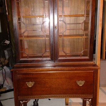 China Cabinet- Rich Mahogany Finish