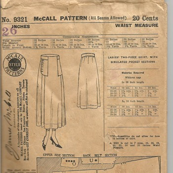 James McCall Pattern 9321 - Sewing