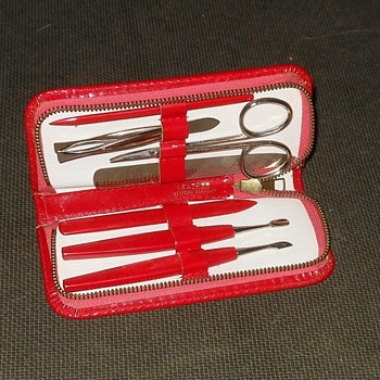 Manicure Set In Leather Case From Western Germany Circa 1950