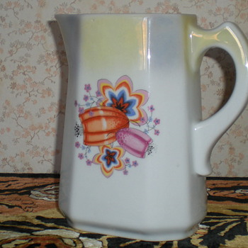 Bulgarian Art Deco cubist porcelain jug. - Art Deco