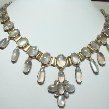 Antique Moonstone Pendant Necklace - Fine Jewelry