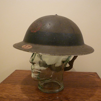 British WWII Chief Fire Officer steel helmet. - Military and Wartime