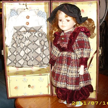World Traveling (?) Porcelain Doll - Dolls