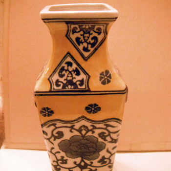 Yellow vase - Asian - Asian