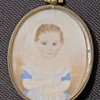 Young Girl Photo in oval frame 2 1/2&quot; by 2&quot;
