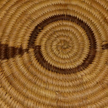 Abstract design woven in basketI - Native American