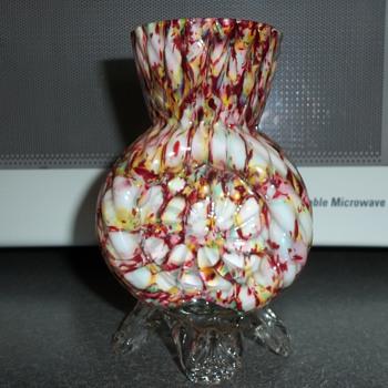 Spatter glass vase - Art Glass