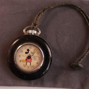"Mickey Mouse ""Lapel"" Pocket Watch"