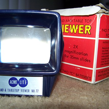 Acme-Lite Hand & Table Top Viewer No. 77 - Cameras
