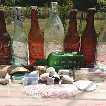 Artifacts from Muskegon Brewing Company
