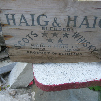 Haig & Haig Scots Whisky Wooden Box... - Advertising