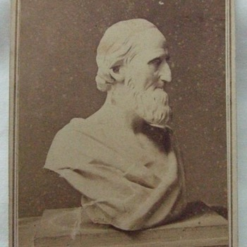 Bust sculpture of 19th century man - Photographs