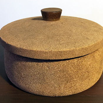 Giant Cork Bowl with Cover