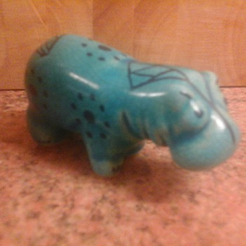 colourful hippo