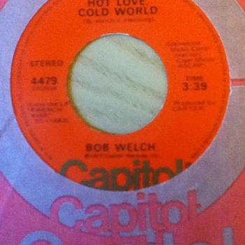 Bob Welch 45 Record