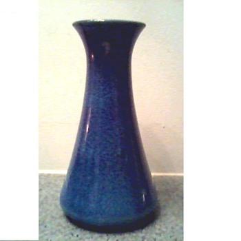 "Cobridge-Moorcraft Stoneware England  8"" Vase/ Blue Drip Glaze/ Circa 1999 - Art Pottery"