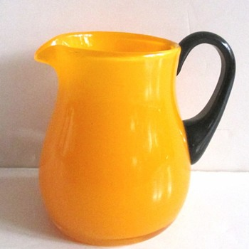 LOETZ MANDARIN YELLOW PITCHER - Art Glass