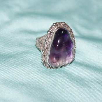 Vintage Chinese (?) Amethyst Ring