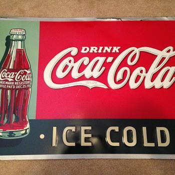 1930's Coke Tin Sign