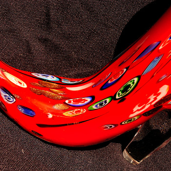 Murano High Heel Shoe with Millefiori Inclusions - Art Glass