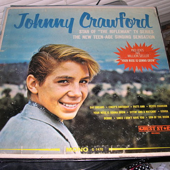 "JOHNNY CRAWFORD STARRED IN ""RIFLEMAN"" GUEST STAR RECORD LABEL G-1470 - Records"