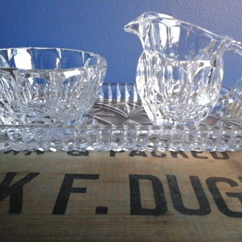 Sugar Bowl And Creamer Set - Glassware