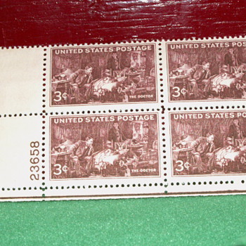 "1947 United States Postage ""The Doctor"" 3¢ Stamps - Stamps"