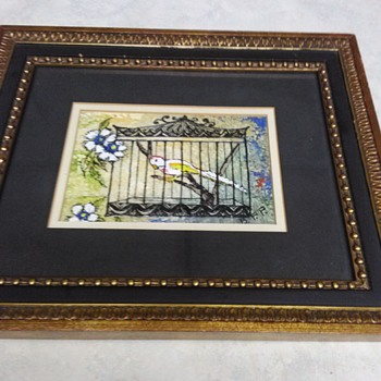 ENAMEL ARTWORK BIRD CAGE - Visual Art