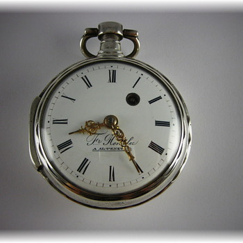 German Verge Fusee Pocket Watch