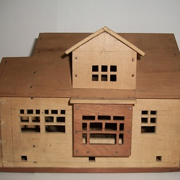 Cigar Box Folk Art Houses by Charles Cole of Racine Wisconsin collection Jim Linderman