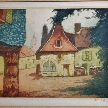 WOOD BLOCK ENGRAVING I THINK, MADE IN FRANCE UNKNOWN ARTIST