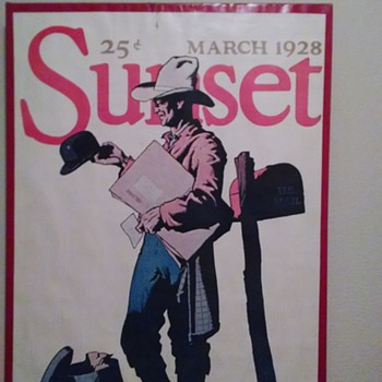 sunset magazine march 1928 - Posters and Prints