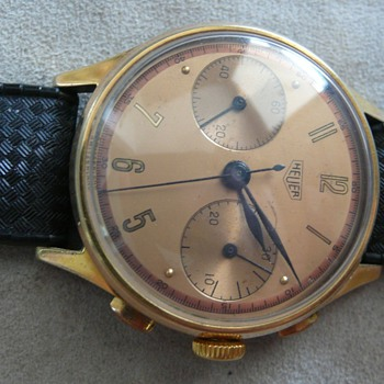 Hueur handwind chronograph 1940s - Wristwatches