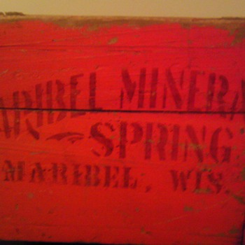 Maribel mineral springs crate - Advertising