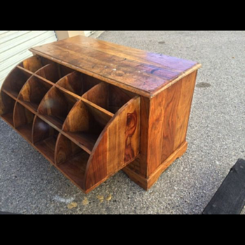 "Heavy wooden ""unknown"" mystery dresser"
