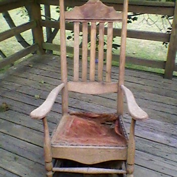 Early Oak rocker  - Furniture