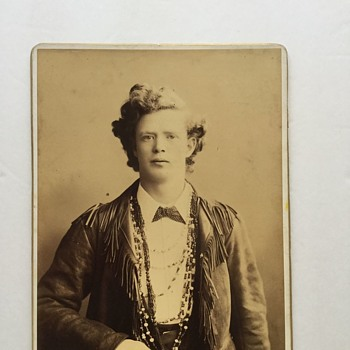 Antique Western Portrait Photograph