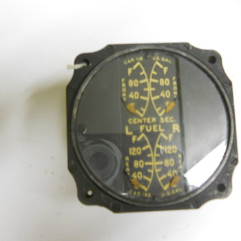 World War II aircraft gauge with radium dial