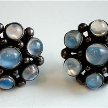 Beautiful Blue Moonstone Earrings