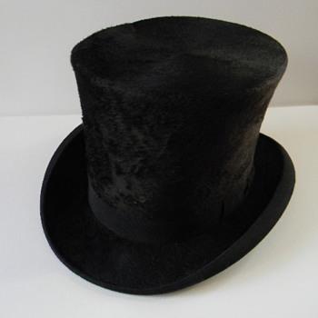 vintage beaver felt top hat