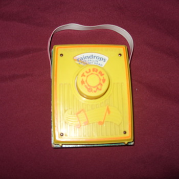 1972 fisher price music box pocket radio