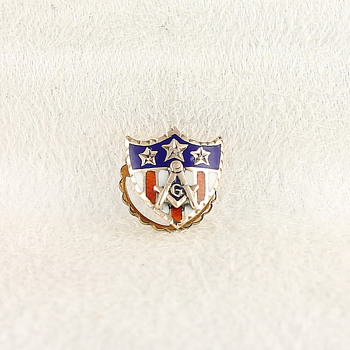 My First Vintage Masonic  Lapel Pin - Medals Pins and Badges