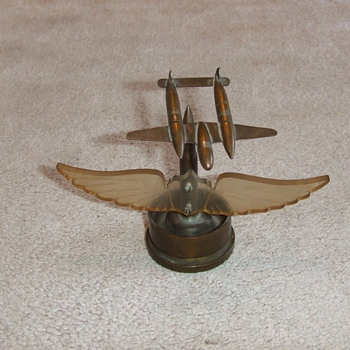 Trench Art P-38 and Aircraft Windshield wings - Military and Wartime