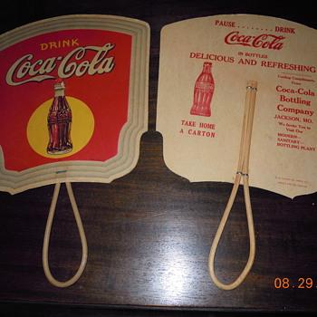 1930's Coca-Cola Fans - Coca-Cola