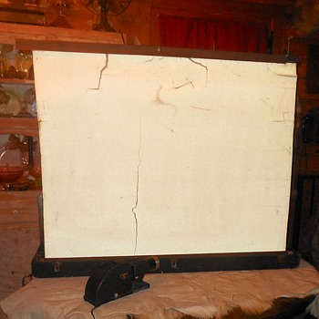 Vintage Da-Lite Projector Screen - Cameras