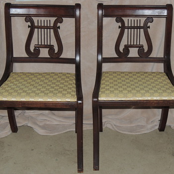 Duncan Phyfe Style Lyre Back Side Chairs