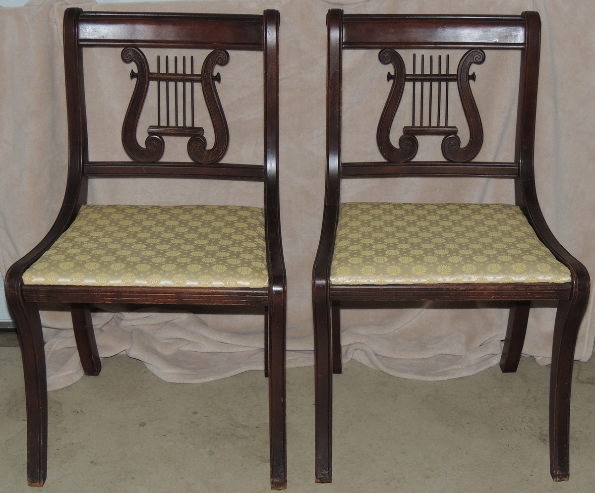 Duncan phyfe style lyre back side chairs collectors weekly for New style chair