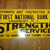 First National Bank Cranbury, NJ Tin Sign