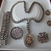 Classic set Sterling Silver Victorian jewelry.